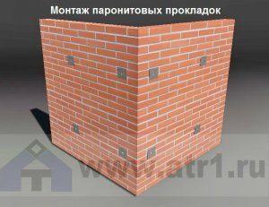 Монтаж паронита, уплотнительные прокладки при облицовке фасада