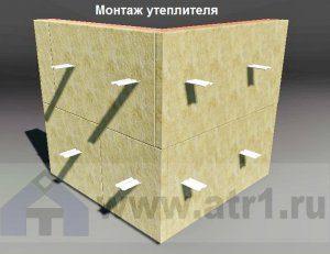 Монтаж утеплителя-облицовка фасада