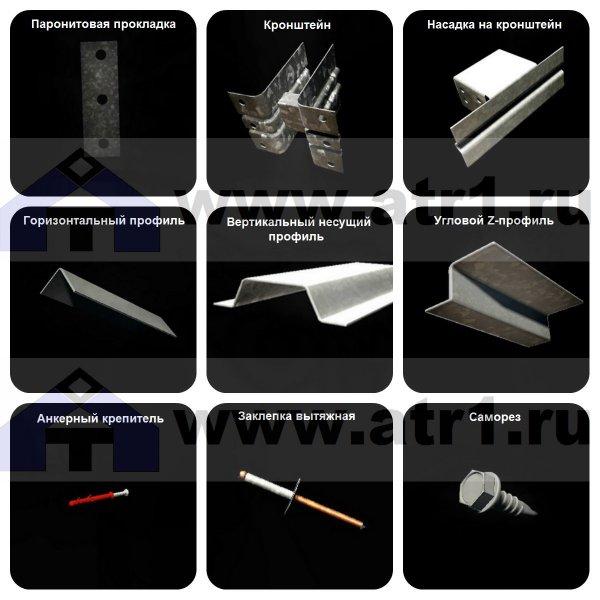 Профили и элементы межэтажной фасадной системы