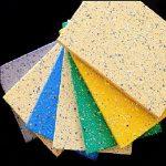 Фиброцементная плита, фасадная панель, с декоративным покрытием Флок чипсы