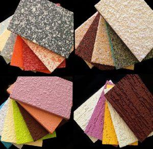 Фактурные фиброцементные плиты, окрашенные для отделки фасада