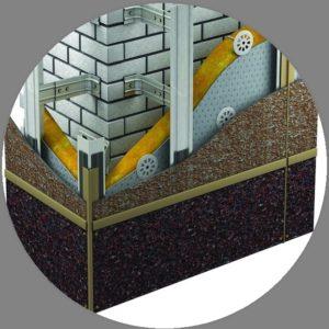 Вертикальная фасадная система под фиброцементные панели
